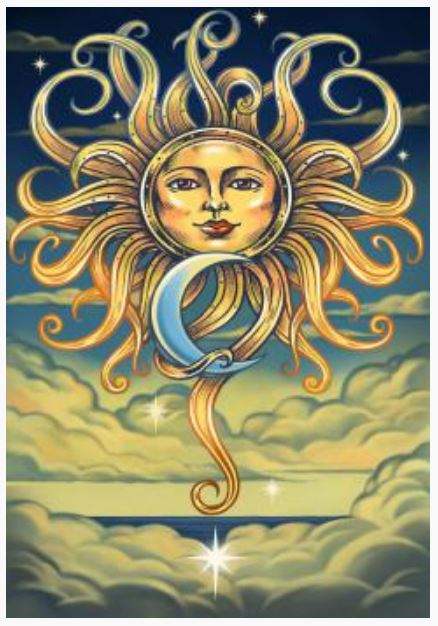 Intertwined Sun & Moon Tapestry